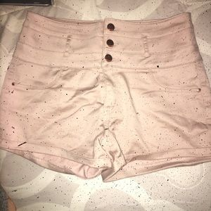High waisted taupe color shorts !